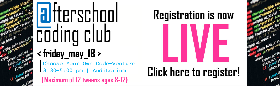 Afterschool Coding Club Codeventure Registration