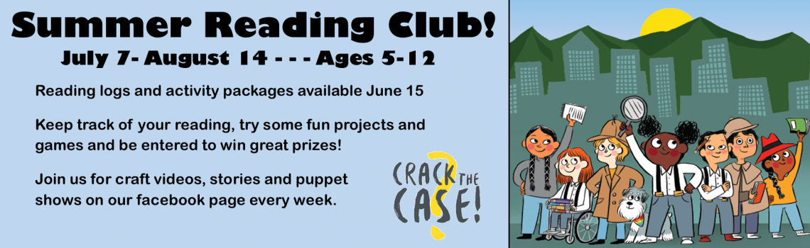 Summer Reading Club 2021 Crack the Case